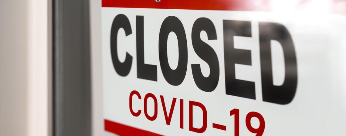 Geschäft wegen Corona geschlossen