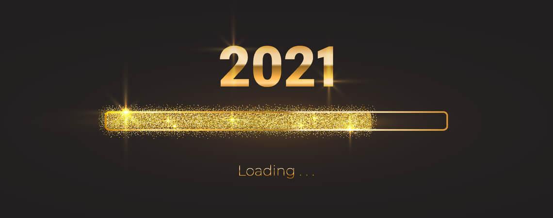 Ladebalken der den Fortschritt von 2021 zeigt