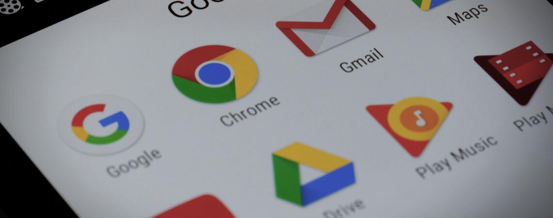 Google-Dienste auf einem Smartphone
