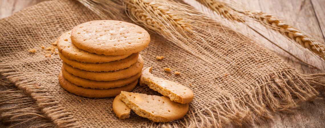 Kekse auf Stoff