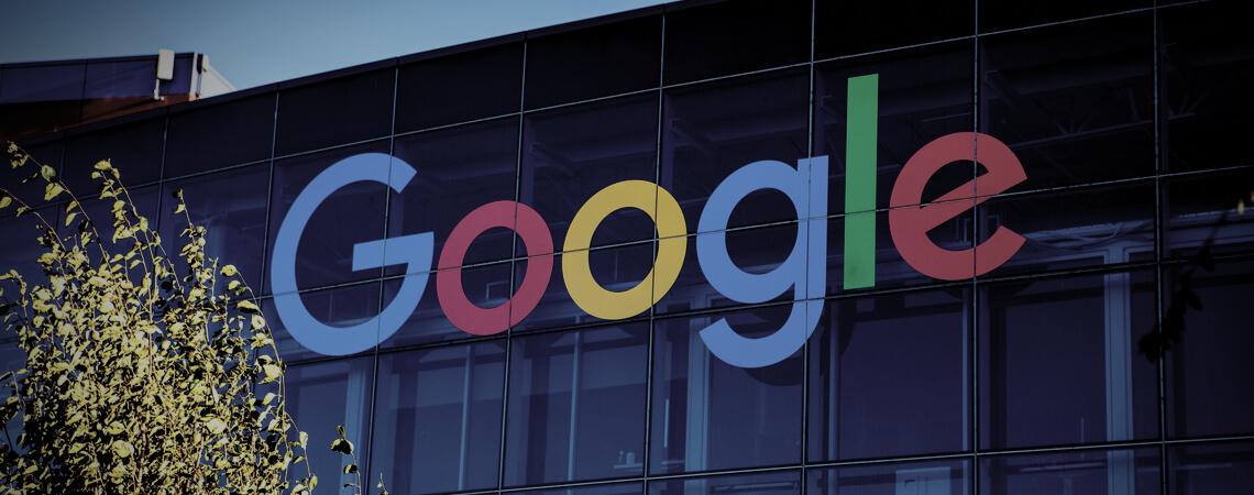 Google-Logo abgedunkelt