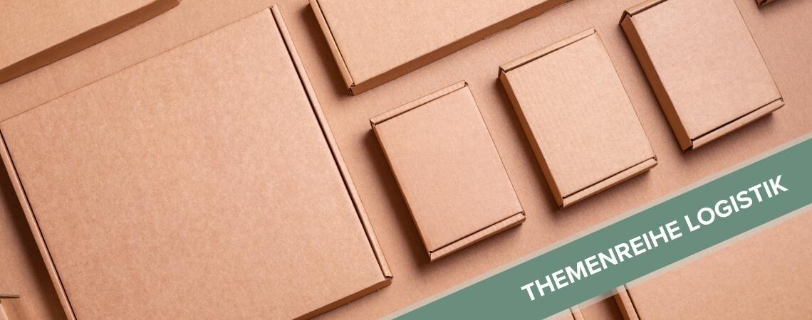 Verschiedene Kartons