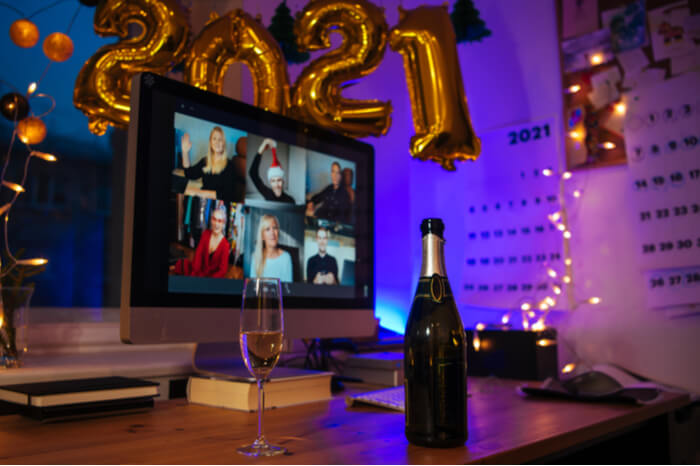 Silvesterparty mit Videocall