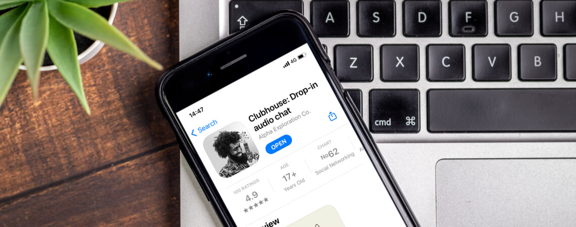 Clubhouse App auf IPhone