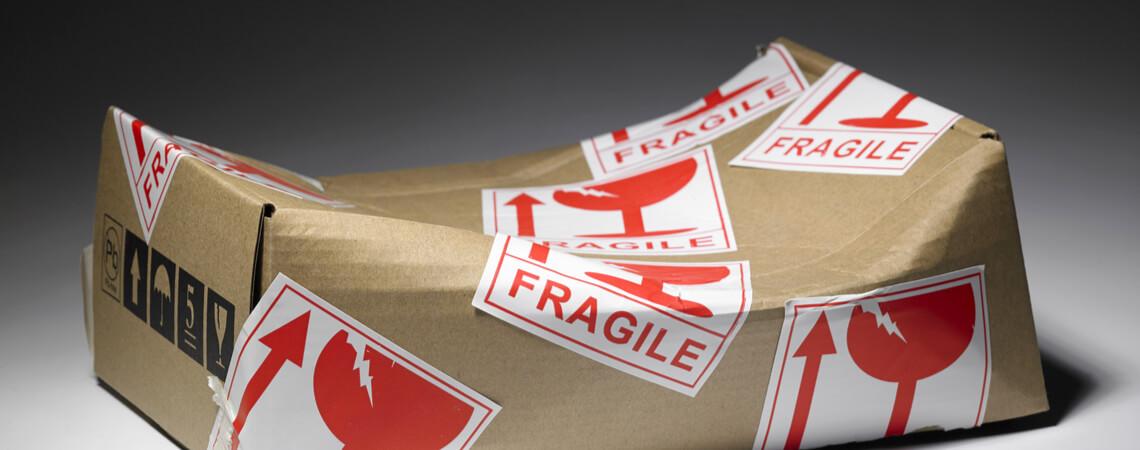 Zerbeultes Paket