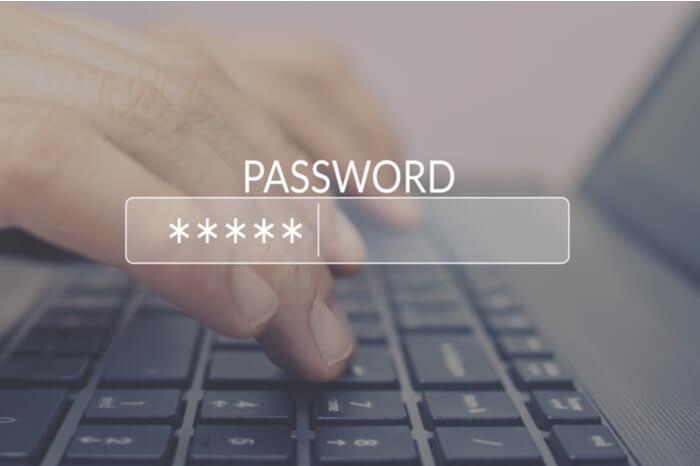 Passwortfeld im Internet-Browser