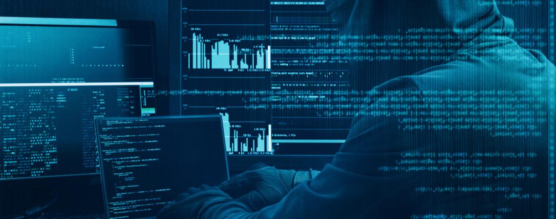 Konzept von Cybercrime