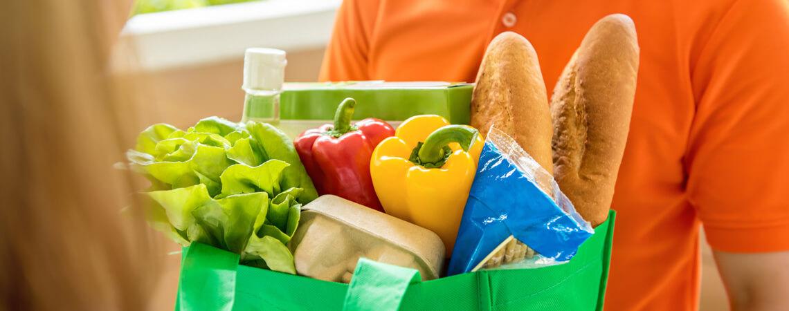 Lebensmittel-Lieferung