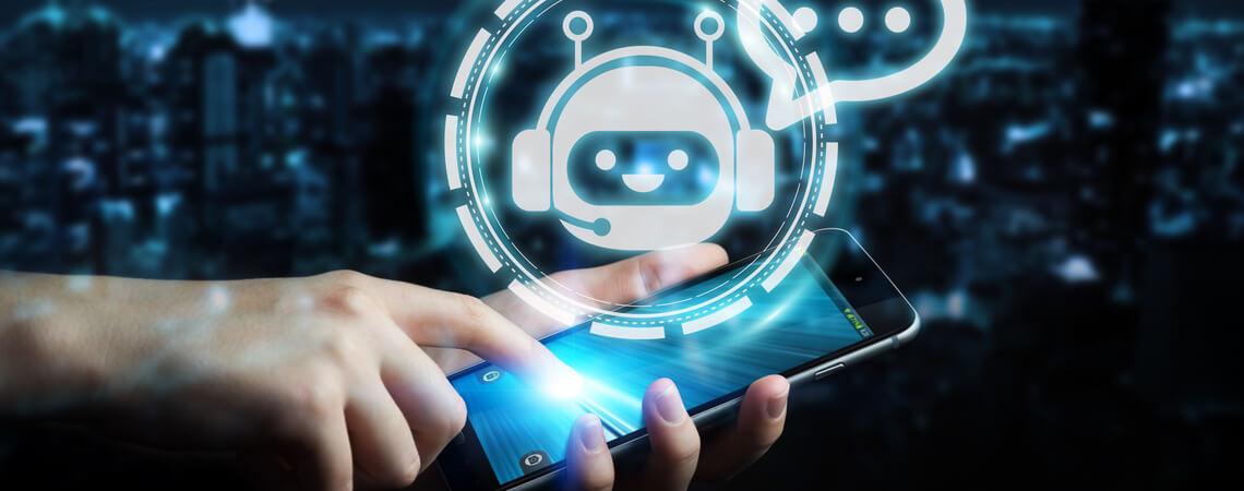 Chatbot auf Handy