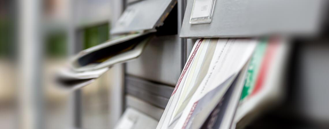 Werbeprospekte in Briefkästen