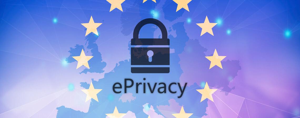 Europasterne um E-Privacy-Schriftzug