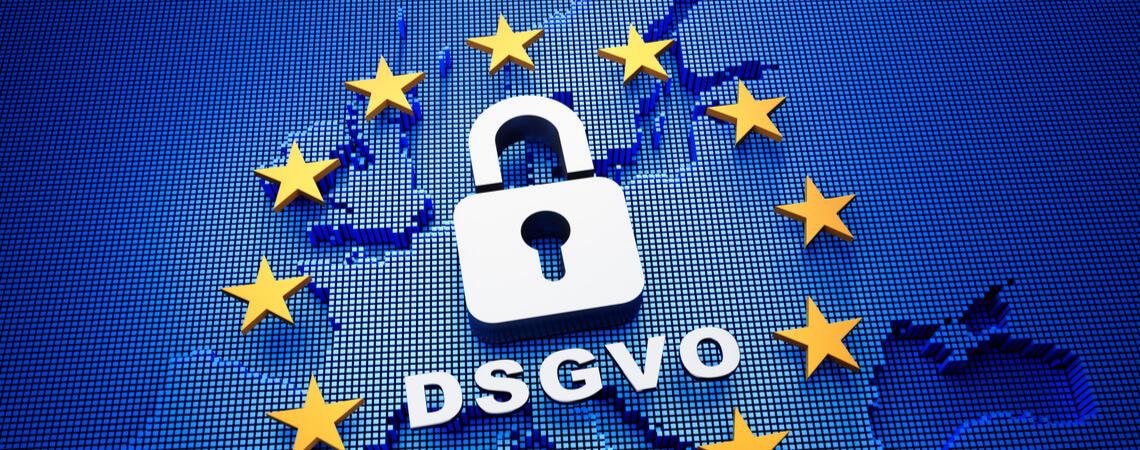 DSGVO auf Europakarte