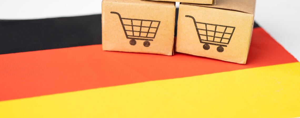 Deutschlandfahne mit Minipaketen