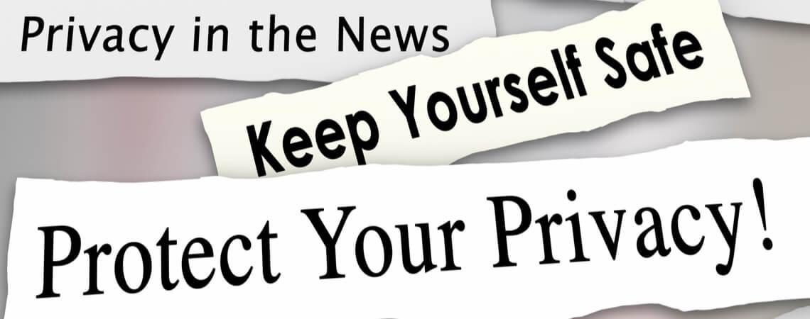 Datenschutzbezogene Zeitungsüberschriften