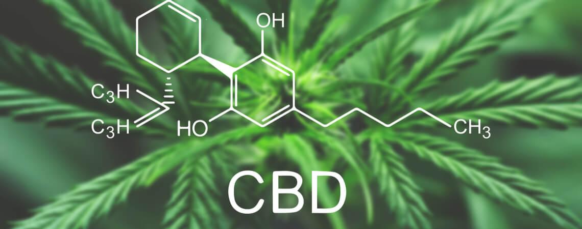 Chemische Zeichen für CBD