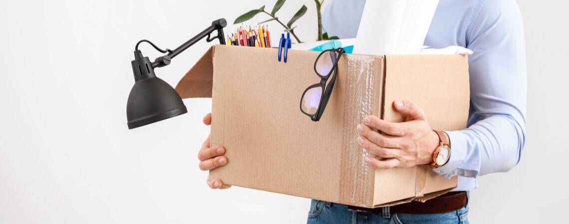 Kiste mit persönlichen Dingen