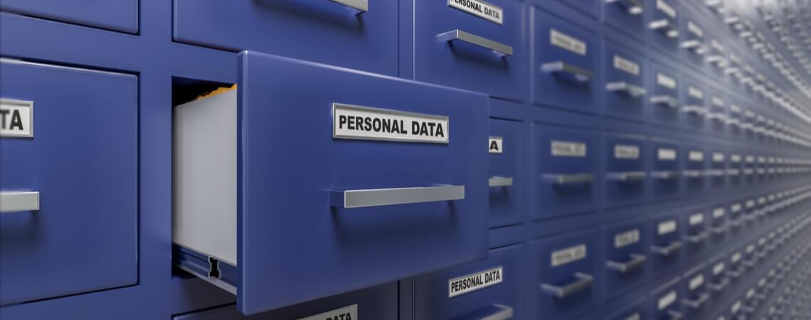 Datenschutz auf Kartei-Schublade