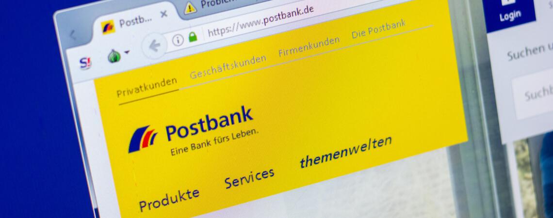 Postbank-Webseite