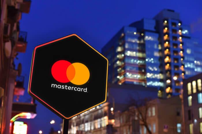 Schuld mit Mastercard-Logo