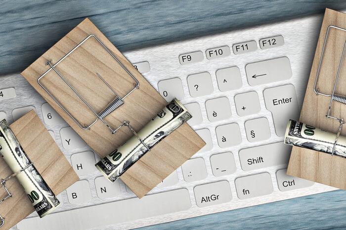 Mausefalle auf Tastatur