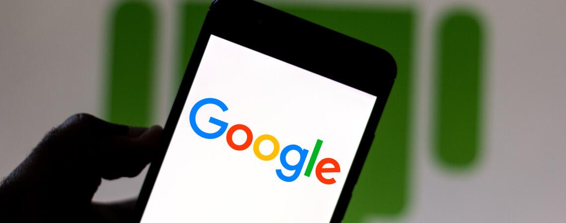 Google auf Smartphone
