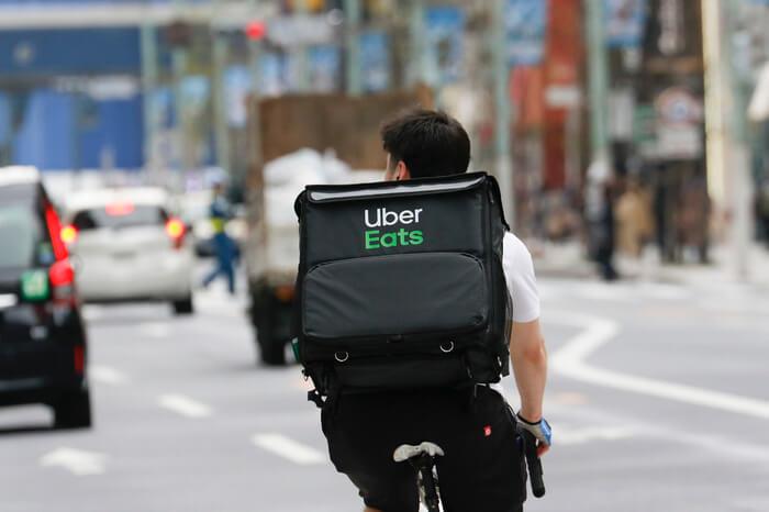 Uber Eats Fahrer