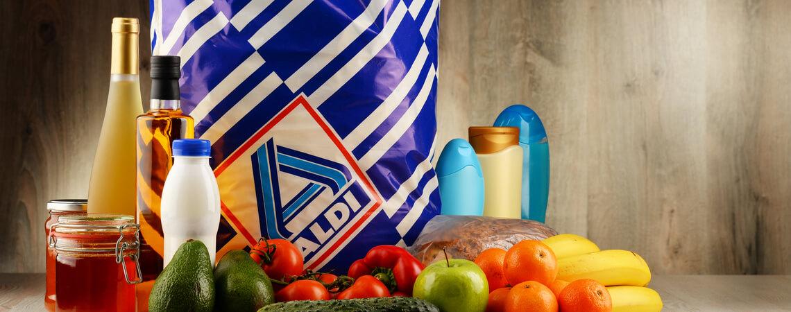 Alditüte mit Produkten