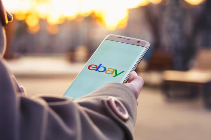 Ebay-Logo auf einem Smartphone