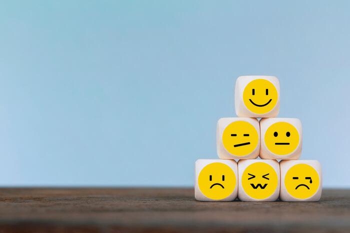 Kunden Feedback Emojis