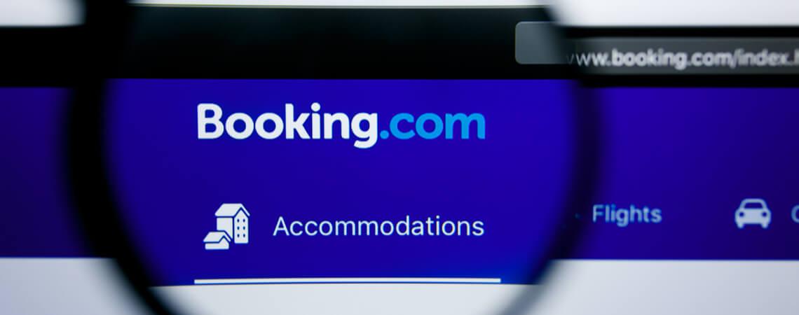 Die Homepage von Booking.com unter der Lupe