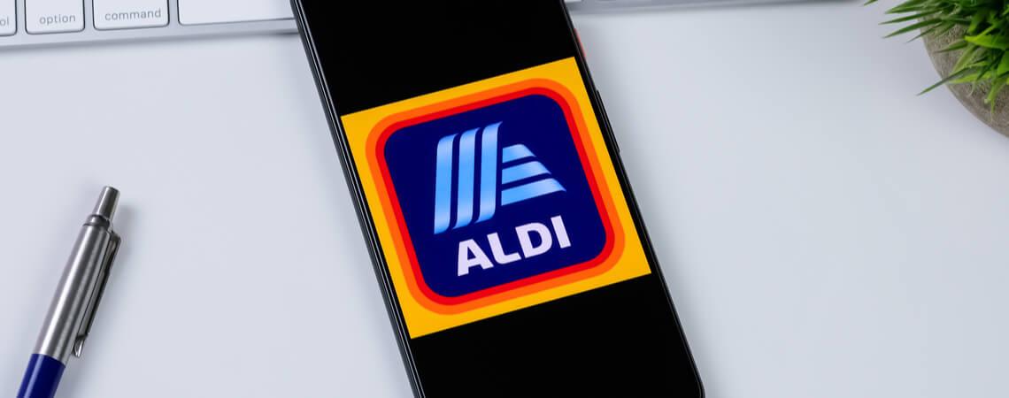 Aldi Logo auf Smartphone