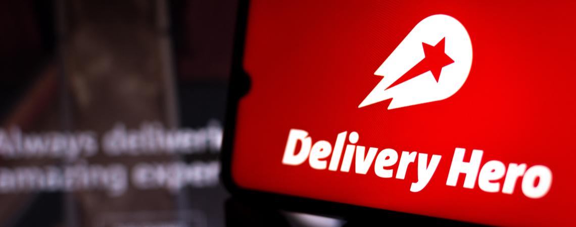 Delivery Hero Logo auf einem Smartphone