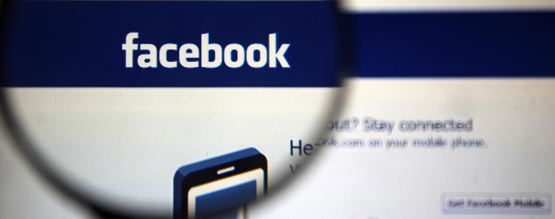 Facebook-Seite unter der Lupe