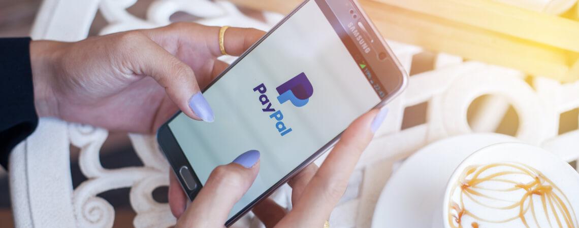 PayPal auf Smartphone