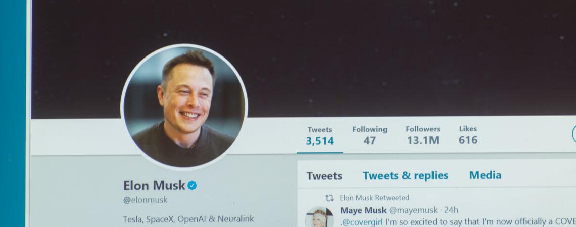Elon Musk auf Twitter