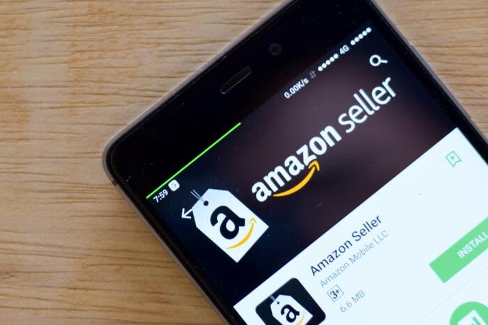 Amazon Seller App auf einem Smartphone