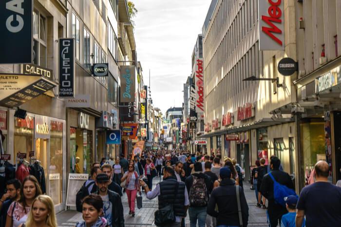 Schildergasse in der Kölner Innenstadt