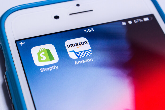 Amazon und Shopify Icons