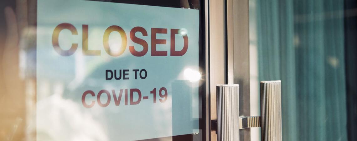 Coronavirus - Ladengeschäft geschlossen