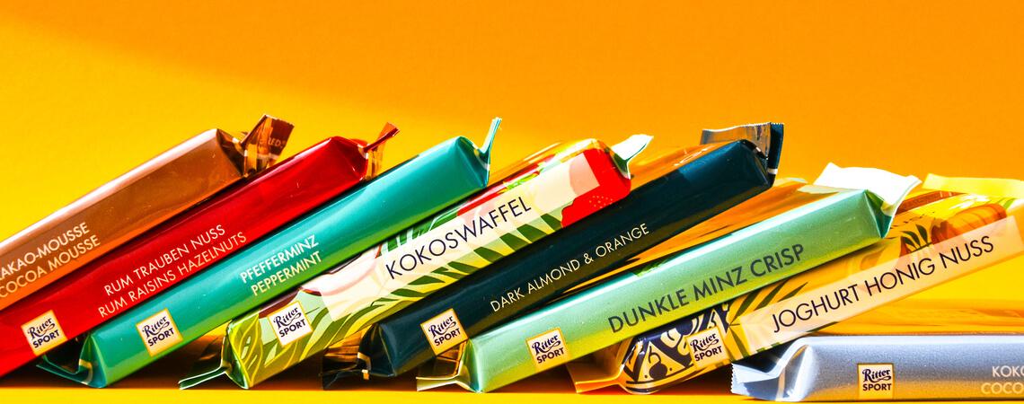Ritter Sport Schokoladentafeln