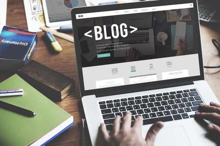 Blog auf Notebook