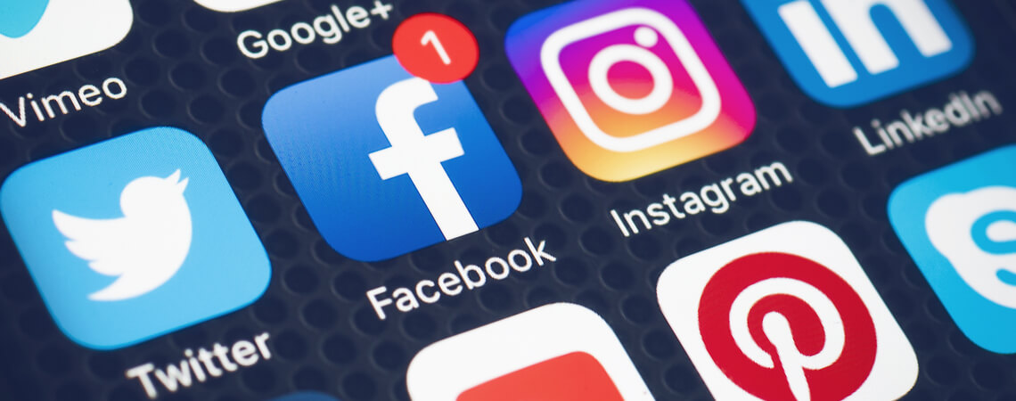 Social-Media-Apps auf Smartphone