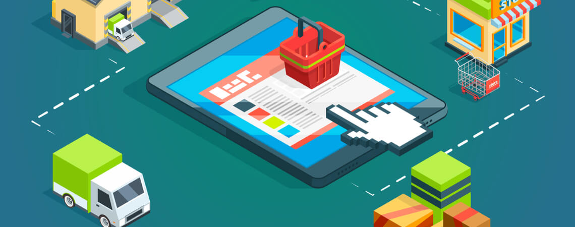 Konzept Online-Handel