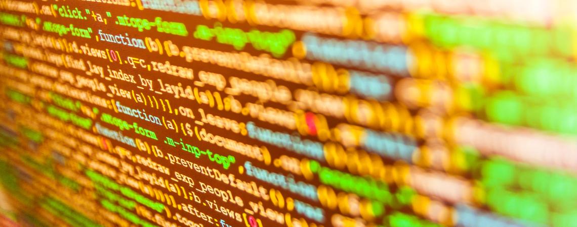 Code auf einem Bildschirm