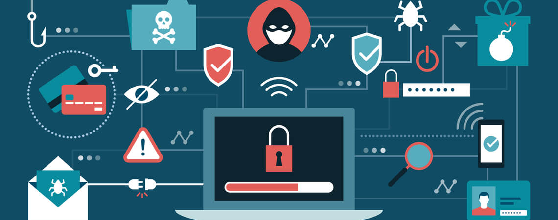 Konzept Online-Betrug