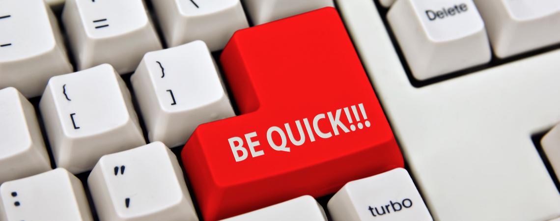 Be quick-Button auf Tastatur