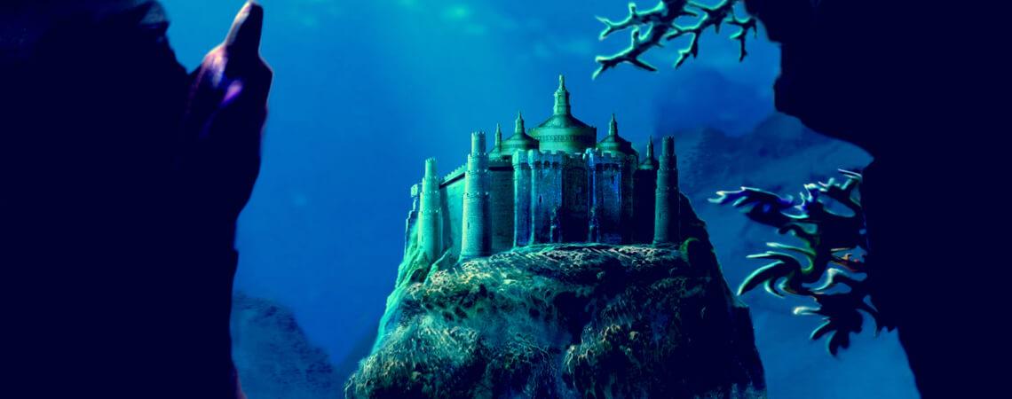 Gebäude unter dem Meer