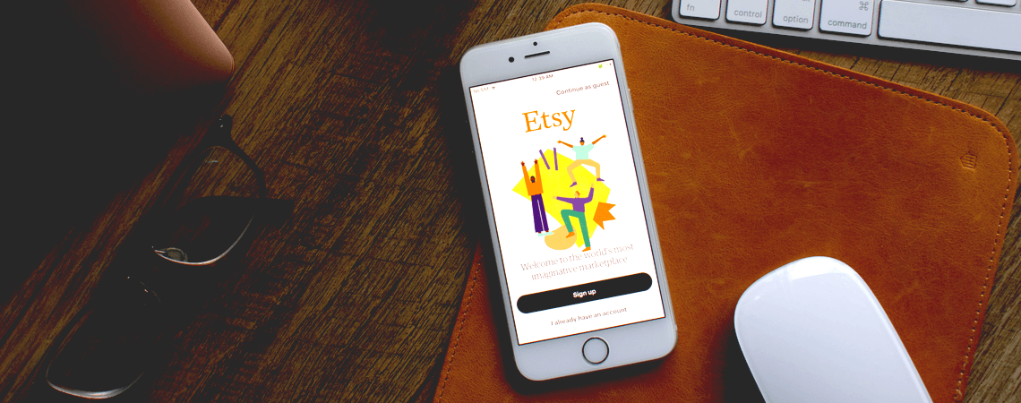 Etsy-Logo auf einem Smartphone