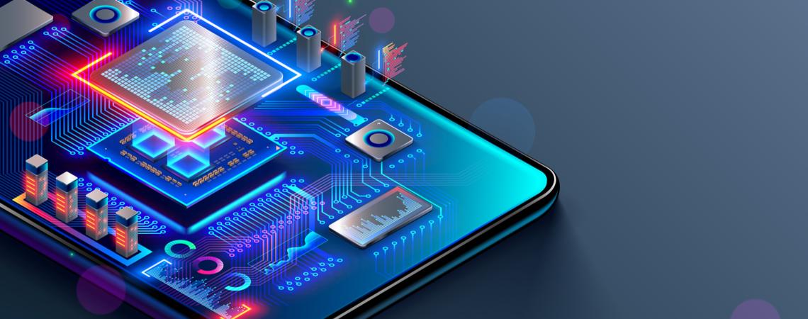 Mikrochip im Smartphone