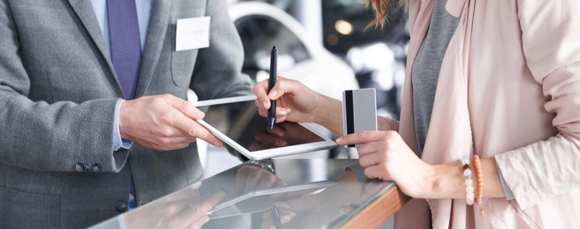 Unterschrift am Tablet